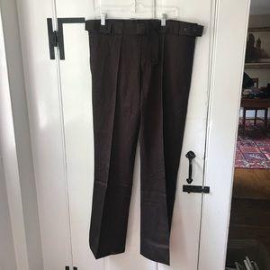 Yves Saint Laurent men's brown pants with belt